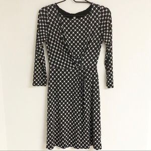 Gillis Viola Printed Drape Jersey Dress